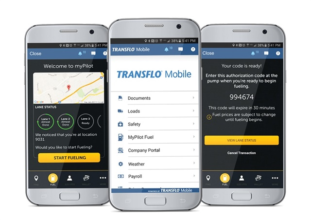User interface of myPilot integration with Transflo Mobile Photo: Business Wire