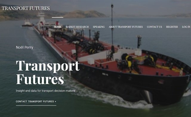 Veteran transportaiton industry analystNoël Perry has launched his own website, Transport Futures, where he will provide his own personal insights on a variety of industry topics. Screenshot via transportfutures.net