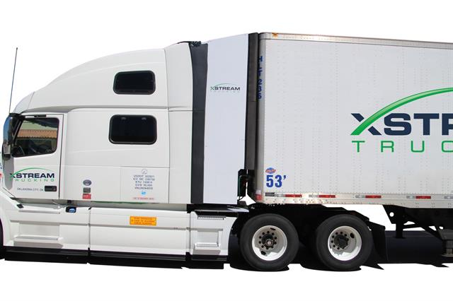 XStream Trucking says that in addition to fuel savings, drivers report a much smoother ride in crosswinds with its TruckWing trailer gap device deployed. Photo: XStream Trucking