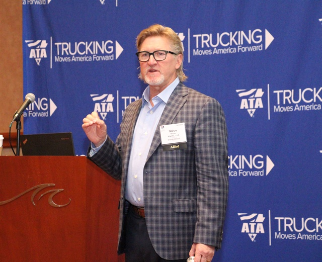 Vigillo CEO Steven Bryan outlines newPrescriptive Analytics Solution developed in partnership with J.J. Keller. Photo: Evan Lockridge