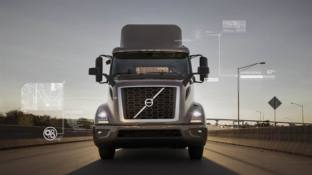 Remote Programming allows Volvo customers to perform over-the-air powertrain software and parameter updates anywhere in the U.S. and Canada where a cellular connection is available. Photo: Volvo Trucks