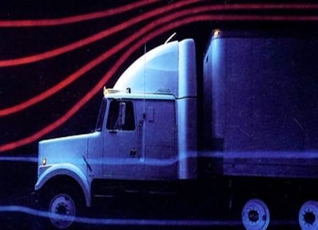 The 1983 introduction of the Integral Sleeper inspired a design revolution for conventional model trucks. It was also colloquially known as the conventional-cabover. Photo: Volvo Trucks