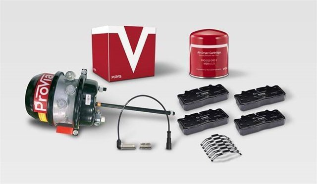 Wabco launched its budget spare parts brand ProVia at HDAW 2018 to better serve distributors, shops and fleet operators in North America. ProVia parts are specifically engineered to provide a powerful balance between safety, reliability and cost. Photo: Wabco