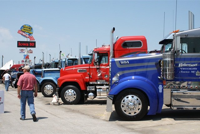 The Super Truck Beauty Contest is one of the highlights of the Iowa-80 annual event.