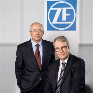 John. C Plant, President and CEO of TRW (left), and ZF's CEO Stefan Sommer. Photo via ZF