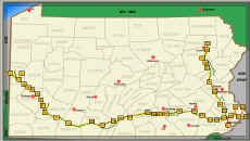 Map from the Pa. Turnpike web site at www.paturnpike.com.