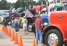 Thousands of visitors attended this year's Shell Rotella SuperRigs event.