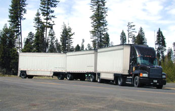 Triple-trailer combinations are currently allowed in some states, such as Oregon.