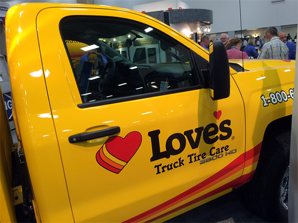 Love's Passes 200th Truck Tire Care Location