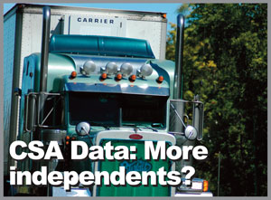CSA Data May Indicate Move by Drivers to Independent Owner-Operators