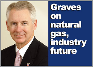 Bill Graves, who spoke at the 14th Annual Pegasus TransTech User Conference, said he expects the increased use of natural gas will bring major changes to the trucking industry.