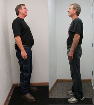 Before and After: Hirschbach driver Carl Bailey went from 227 to 169 pounds -- 26% of his body weight.
