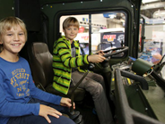 Kids accompanied by adults were welcomed at IAA. Hopefully they'll be the truck drivers of tomorrow.