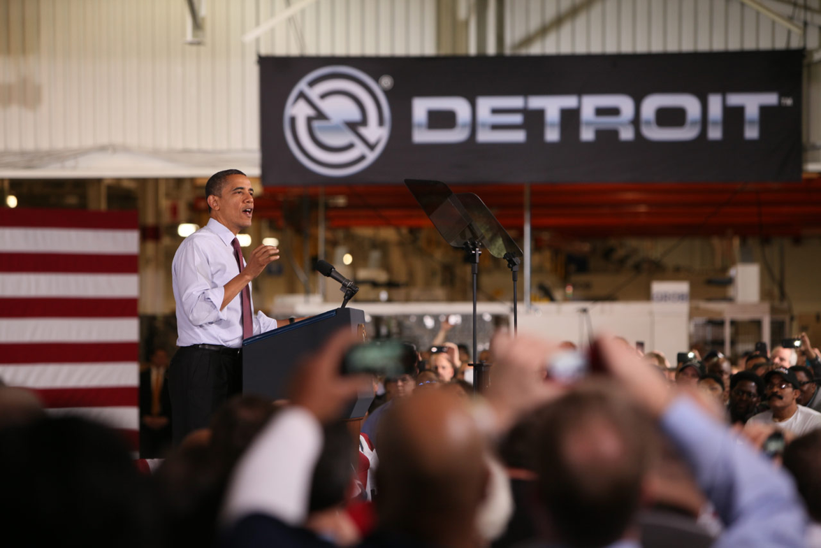 President Obama announcing Daimler is making a $120 million investment in the U.S. plant to...
