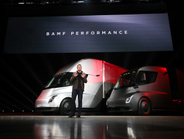 In a wild press launch, Tesla founder and CEO finally showed his vision of trucking to the...