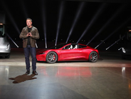 Musk ended the evening by showing a brand-new roadster, which he said will be the fastest...