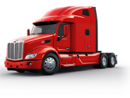 The cab and hood of the Peterbilt Model 579 UltraLoft are the same as other Peterbilt 579...