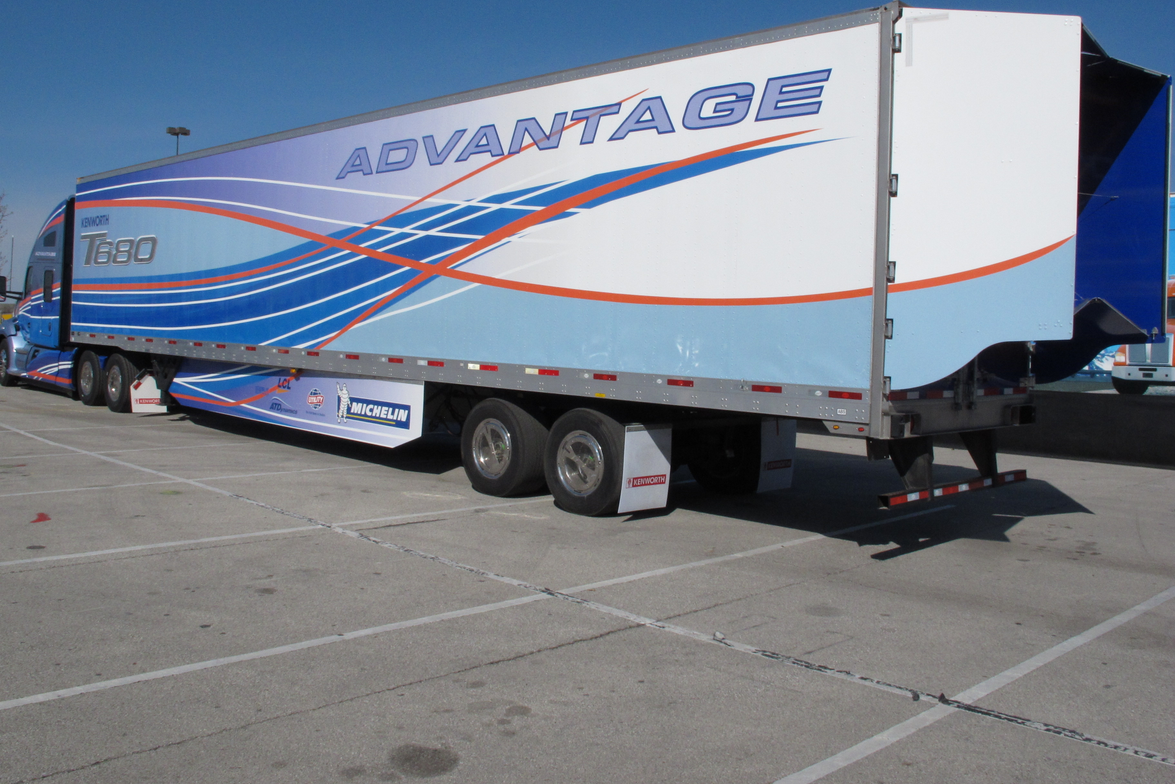 Kenworth's Advantage tractor-trailer is a working concept vehicle engineered to produce optimum...