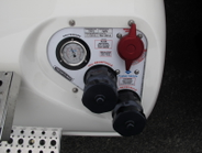 The aft section of the 40 DGE compressed natural gas fuel tank has twofill ports; one for use at...