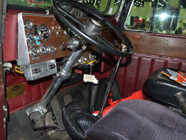 The captain's seat in a 1972 Peterbilt 359, owned by David Strickland, Cana, Va. Photo by Jim Park