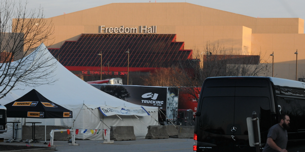 At 8:15, just as the sun was breaking over Freedom Hall on Friday morning, the temperature was a...