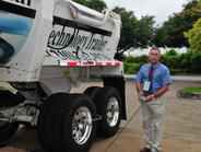 PSI's Kevin Hennig demonstrates the ThermAlert Eutectic plug in the wheel seal cover. It's...