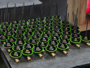 Through-Tee and stator assemblies stand ready to be tested. Photo by Jim Park