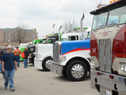 """There were fewer highly customized """"Mafia"""" style trucks, and the winners list showed a..."""