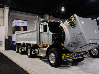 Freightliner's 122SD with a dump box. Shown is a typical Ontario configuration with an 88,000-lb...