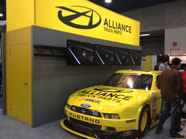 Alliance Truck Parts gets attention with their bright yellow and black color scheme and their...