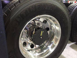 Aperia techs installed the Halo inflators for the Tribe truck on site at the show. Photo:...