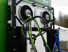 The truck produces no emissions other than a small column of steam when the hydrogen fuel cell...