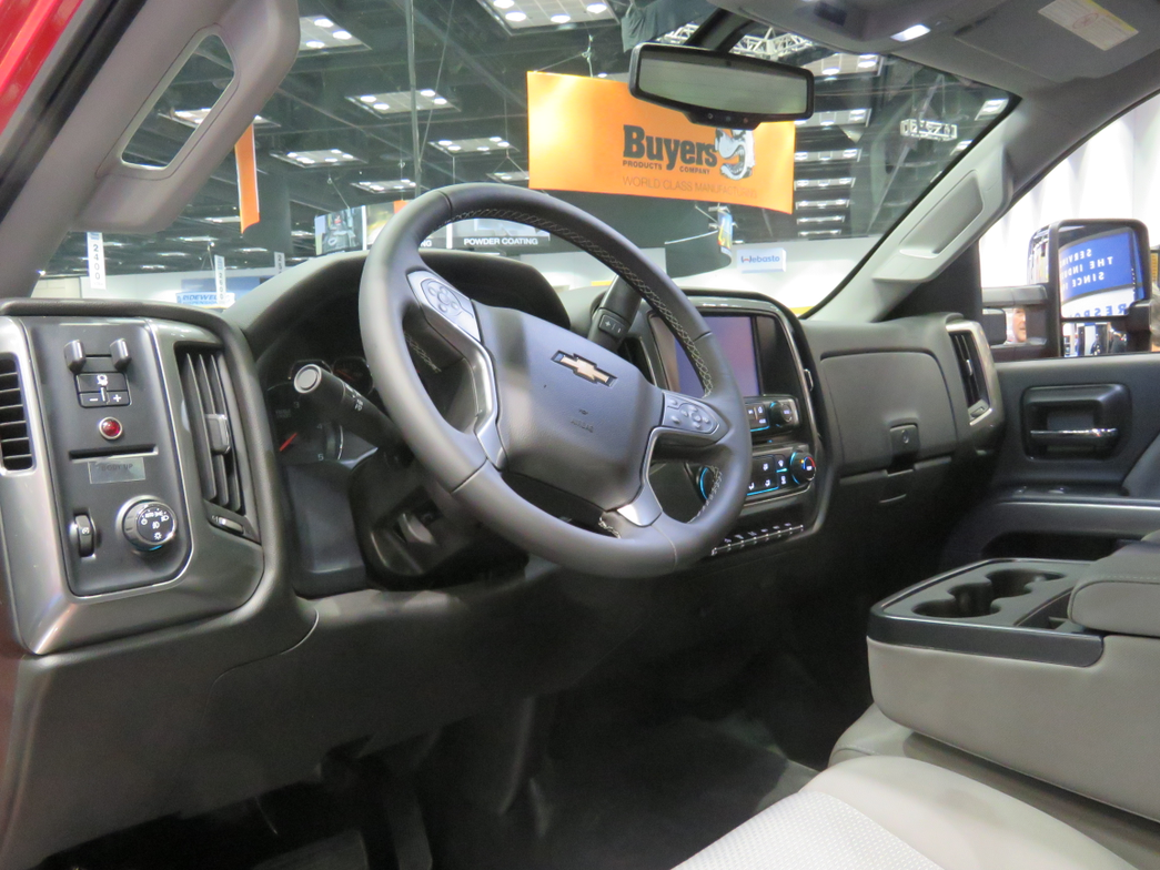 Chevy Silverado 6500 HD interior.