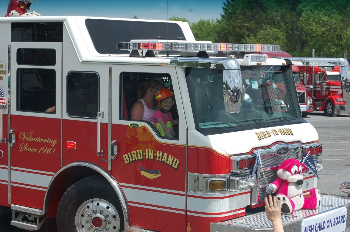 Approximately 100 Make-A-Wish children rode along with truckers in the convoy this year.