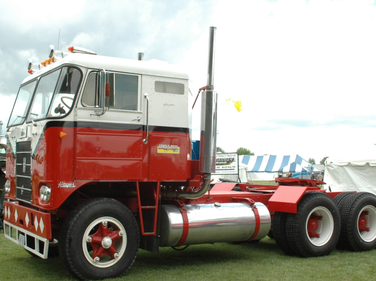 Not many luxuries in this 1963 Hayes COE. With a 6V-72 Detroit and a 4x3 transmission, the...