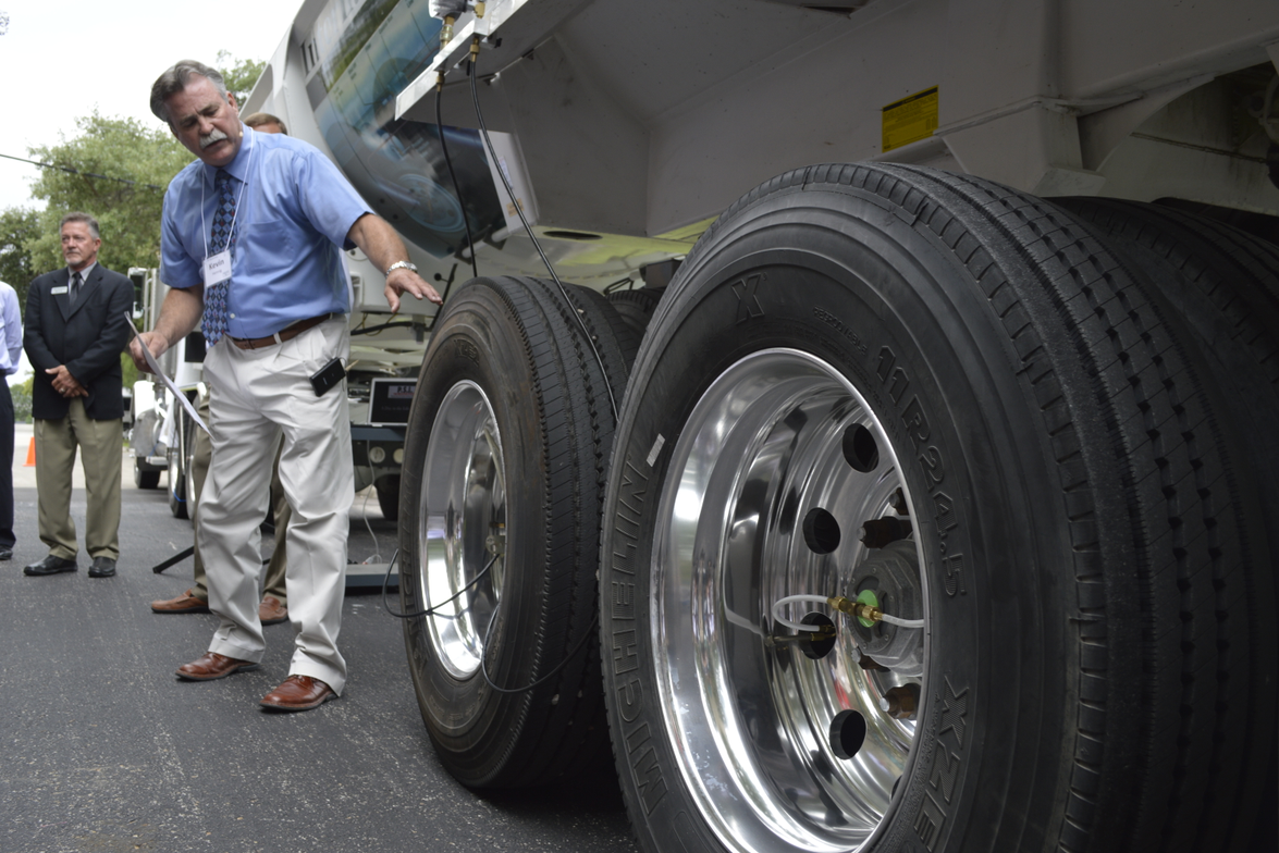 PSI's Kevin Hennig explained how PSI tests its products on the PSI Test Technology Trailer.