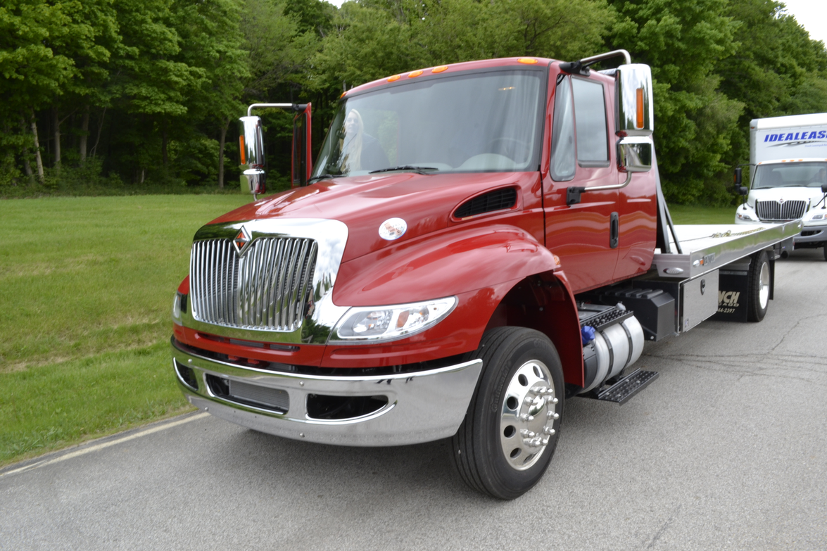 The International DuraStar with an N9 engine mated to an Allison transmission was configured as...