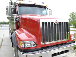 The International PayStar tackled the rough road course, which is used to test vehicles over...