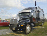 Tricked out Kenworth race RV.