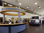 Dealership truck showroom.