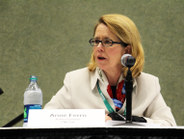 FMCSA Administrator Anne Ferro at the listening session on testing new entrant to the industry.