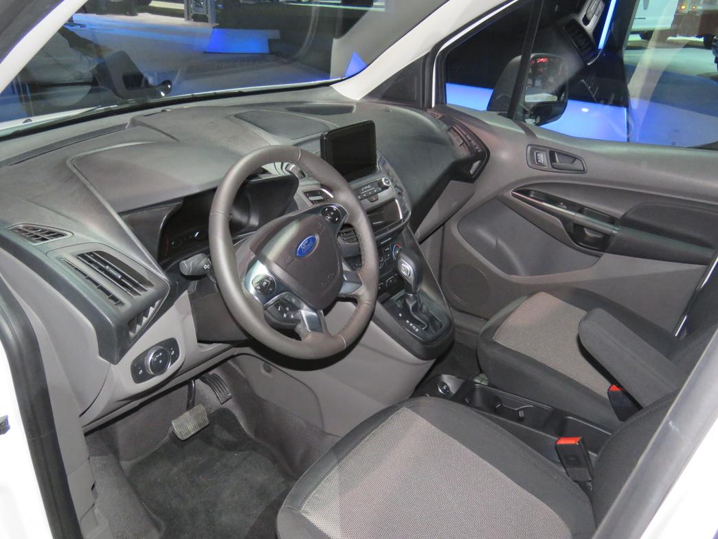 Interior of new-gen Ford Transit Connect cargo van.