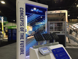 Goodyear showed off some future regional tire tread concepts and asked attendees to vote. Photo:...