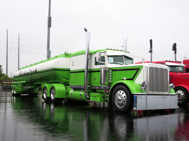 Bill Rethwisch's Best of Show winner, waiting in the rain on the first day at SuperRigs 2014....