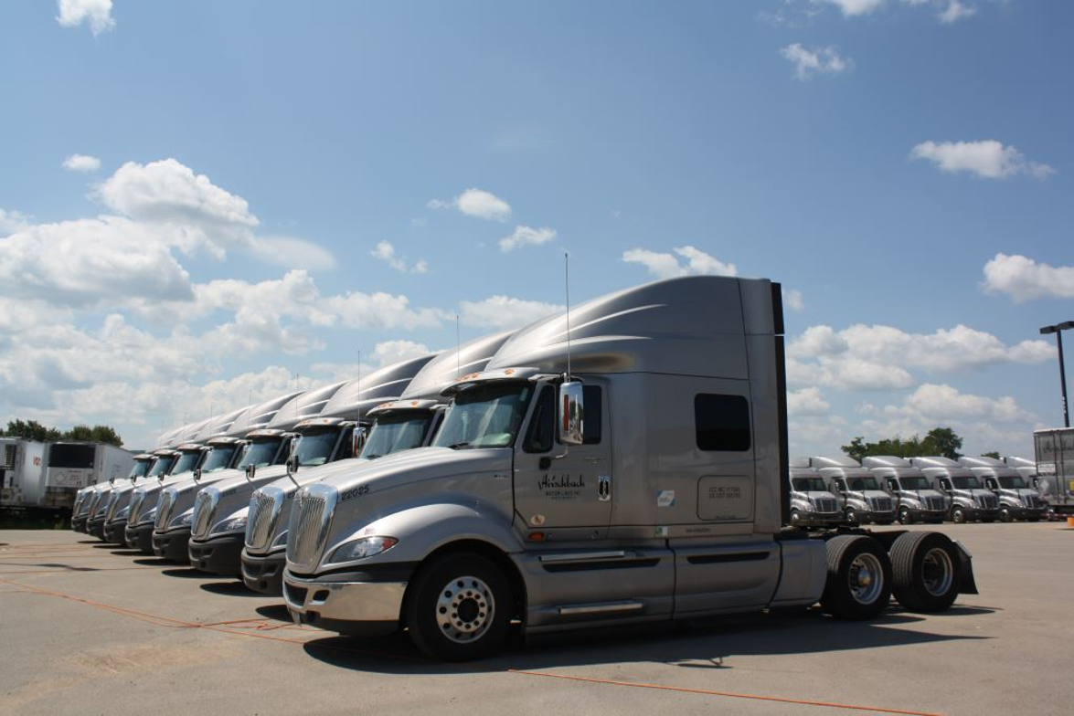 Hirschbach upgrades its fleet of trucks no more than 4 years from purchase, to take advantage of...
