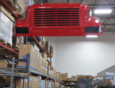 There is still some more traditional parts storage at Action Truck Parts but the distributorship...