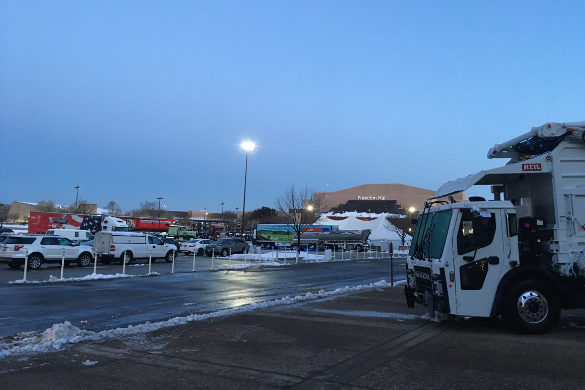 Thursday morning dawned clear, but at 7:30, crews were still clearing snowbanks and salting the...