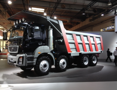 This BharatBenz 3143 dump truck is the largest and heaviest truck straight truck operating in...