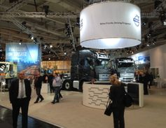 A small part of the Volvo Truck display at the IAA Commercial Vehicle Show in Hanover, Germany.