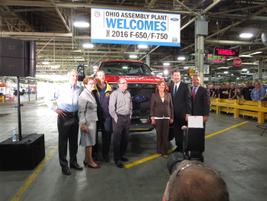 From left: U.S. Senator Rob Portman (R-Ohio); Congresswoman Marcy Kaptur (D-Ohio, 9th Dist.);...